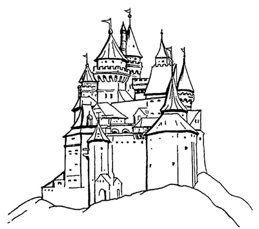 Disney Castle Coloring Pages