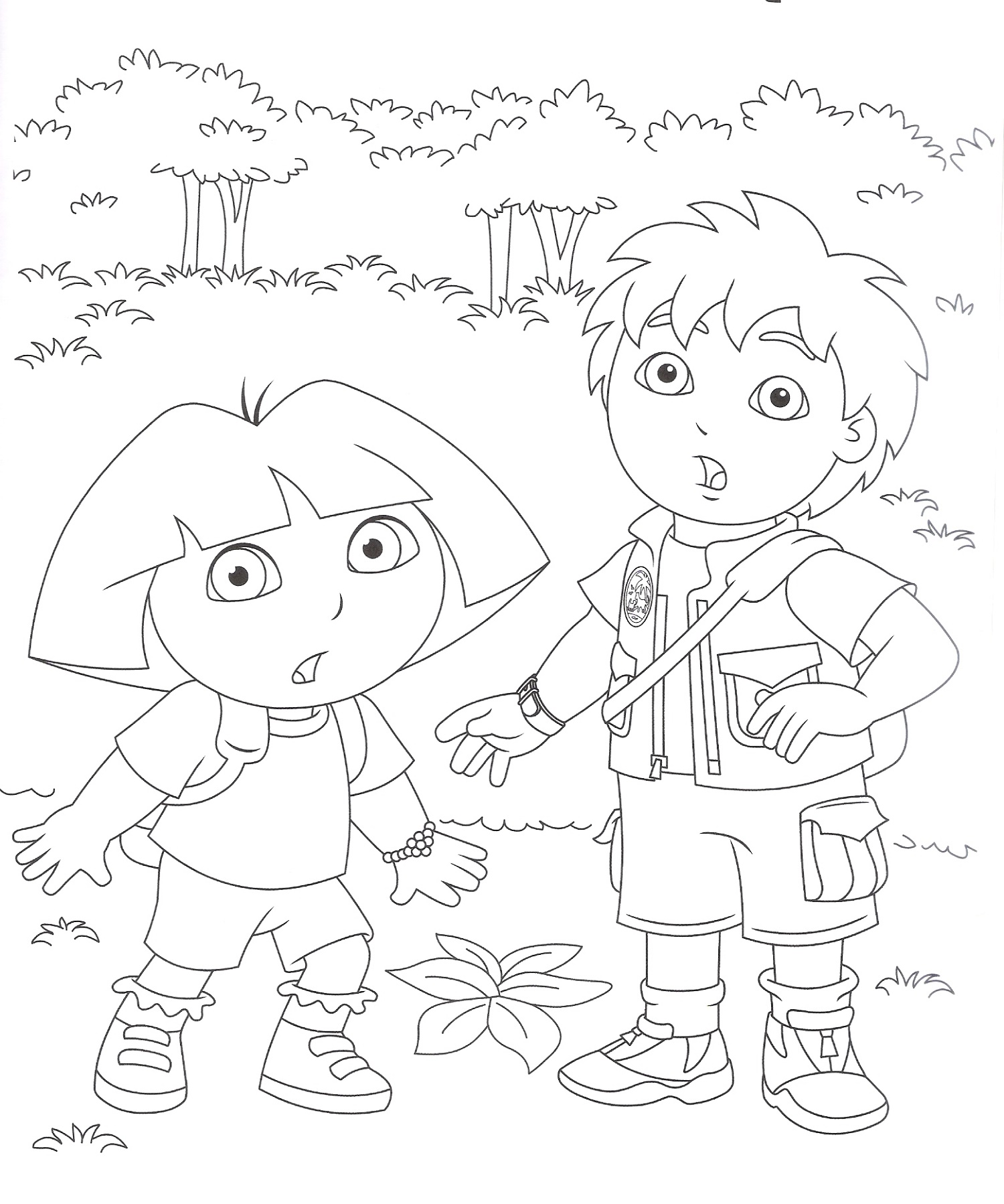 Dora Coloring Pages And Diego