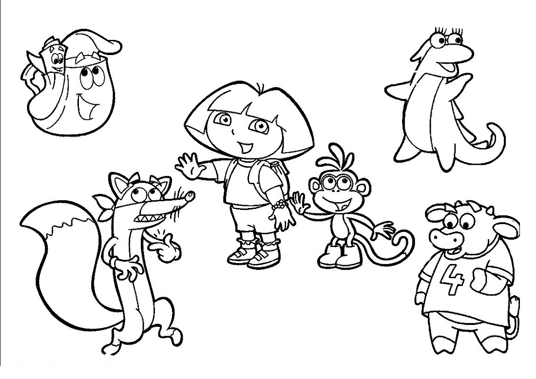 Dora Coloring Pages Characters