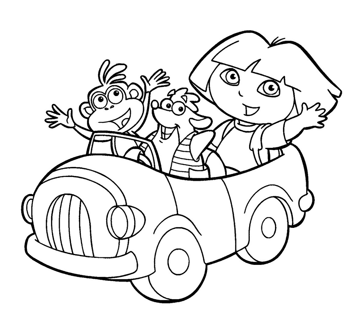 Dora Coloring Pages Printable