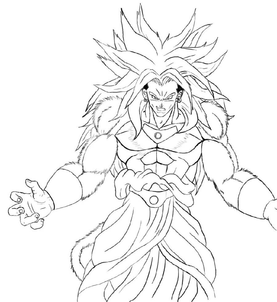Dragon Ball Z Coloring Pages Broly