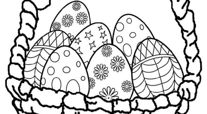Easter Egg Coloring Pages Basket