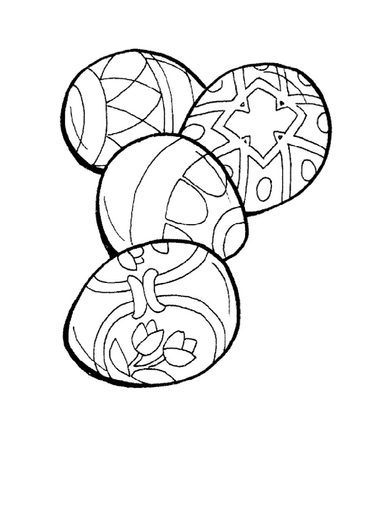 Easter Egg Coloring Pages Christian