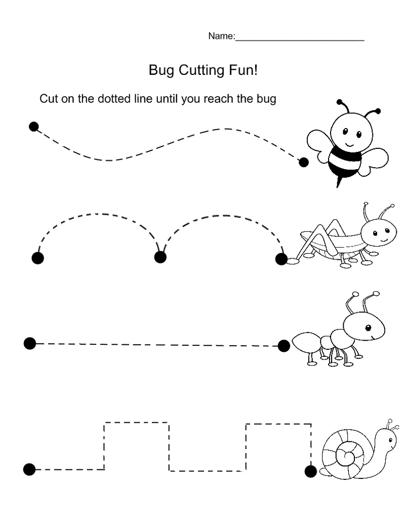 Educational Worksheets For Preschoolers Cutting Practice