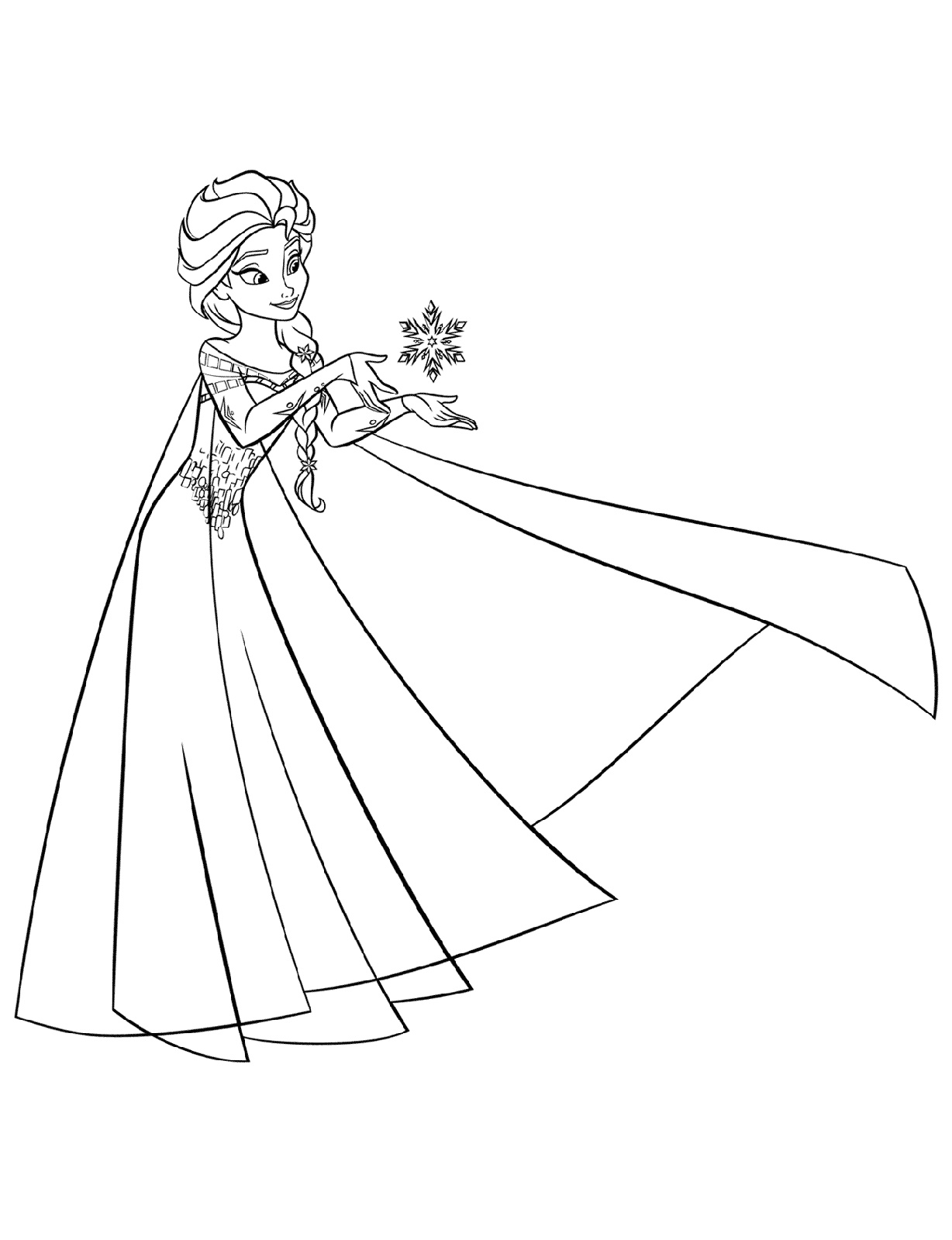Elsa Coloring Pages Free
