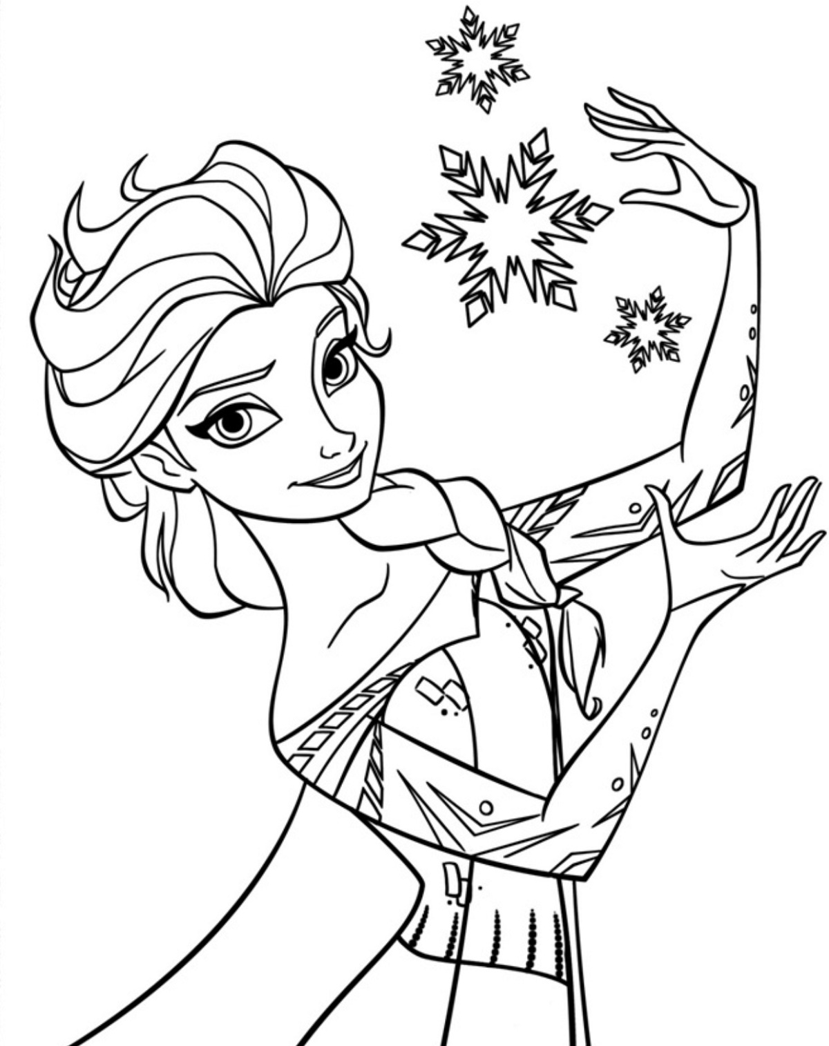 Elsa Coloring Pages Frozen