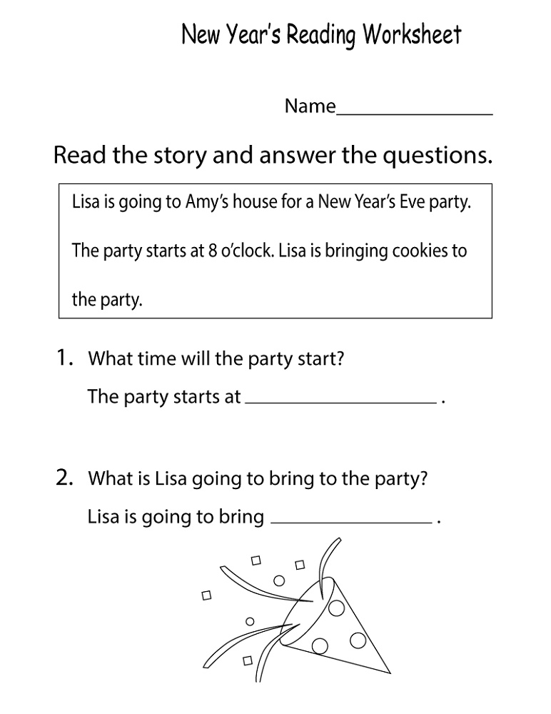 English Worksheets For Kids Reading