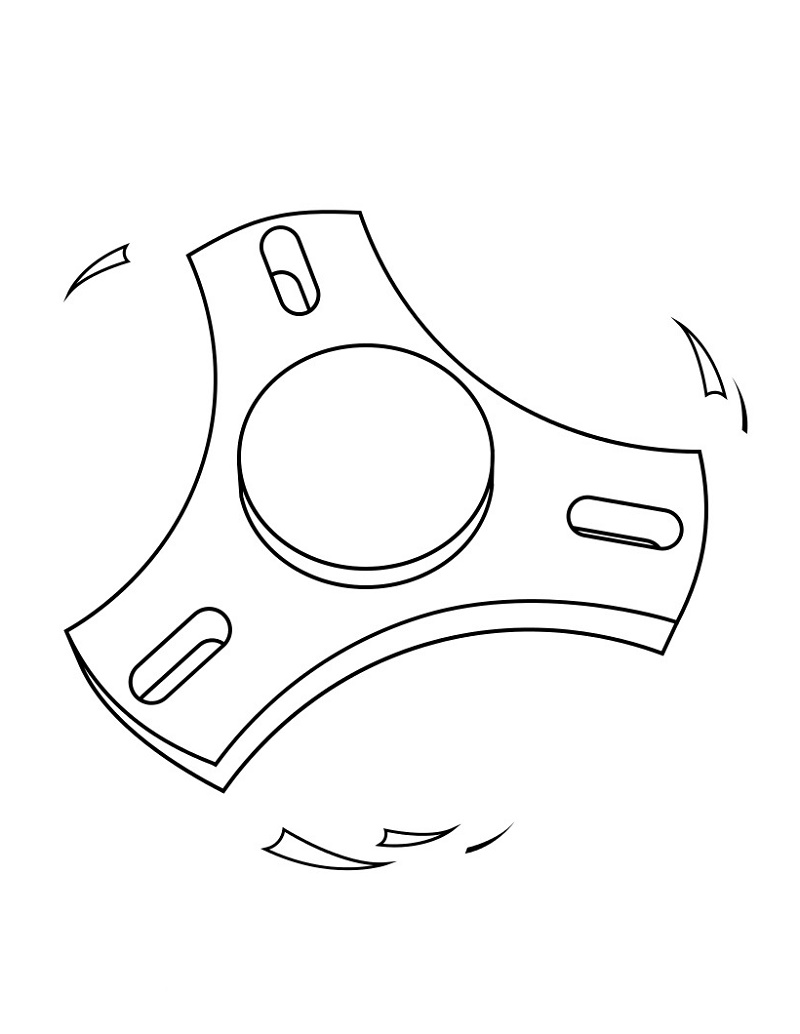 Fidget Spinner Coloring Pages To Print