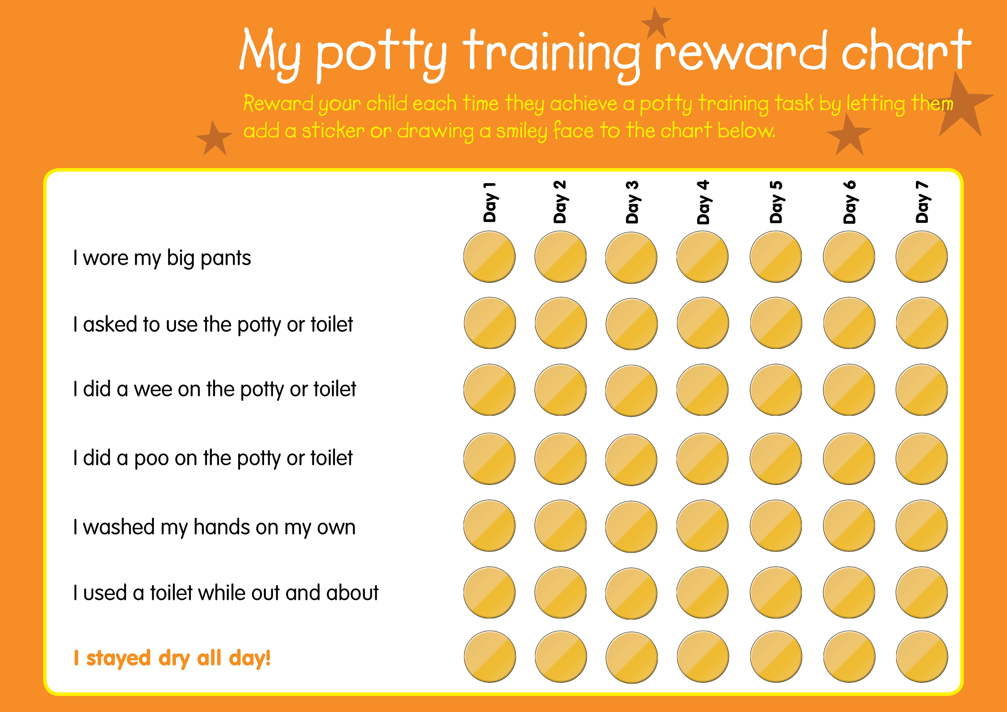 Free Printable Reward Charts Potty