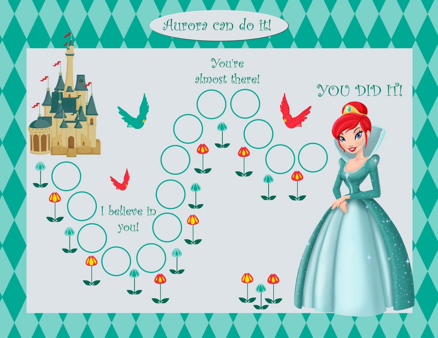 Free Printable Reward Charts Princess
