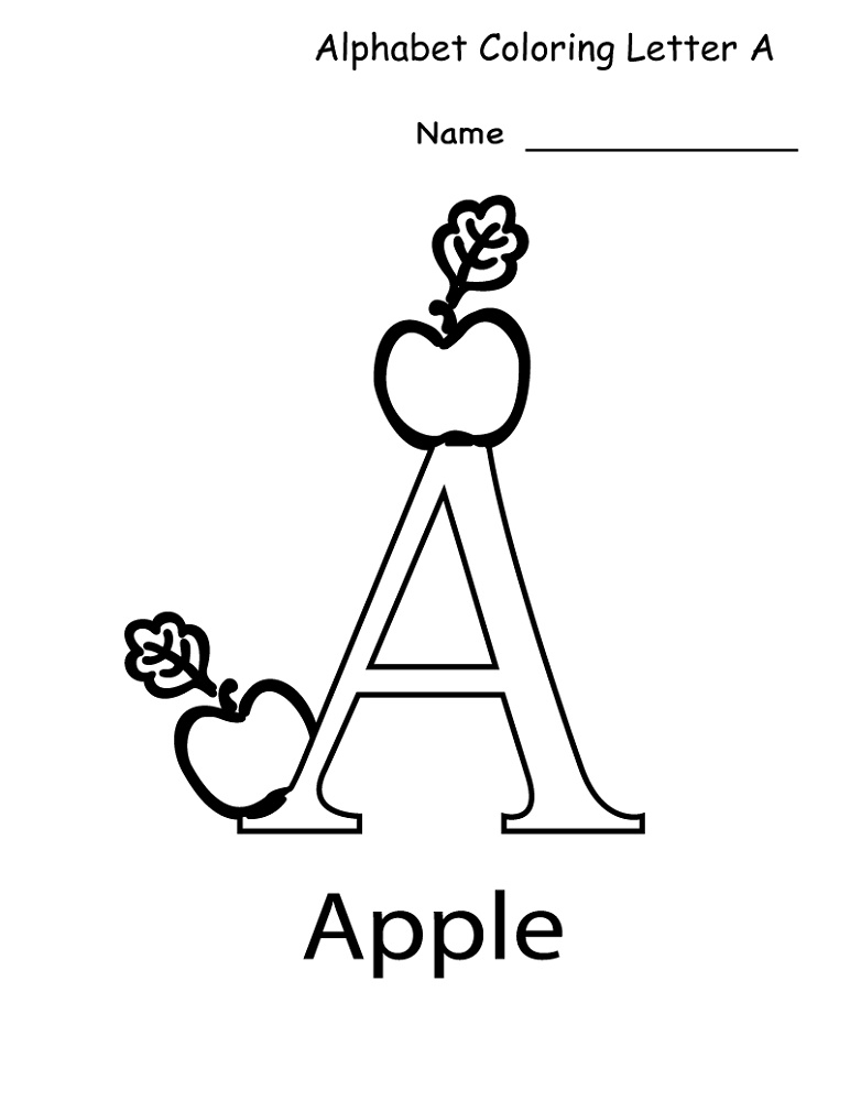 Fun Worksheets For Kindergarten Alphabet Coloring
