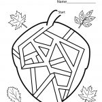 Fun Worksheets For Kindergarten Maze