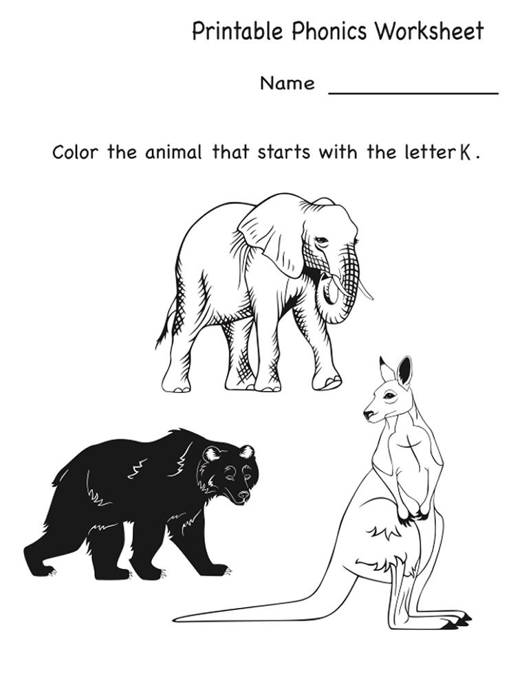 Fun Worksheets For Kindergarten Phonics