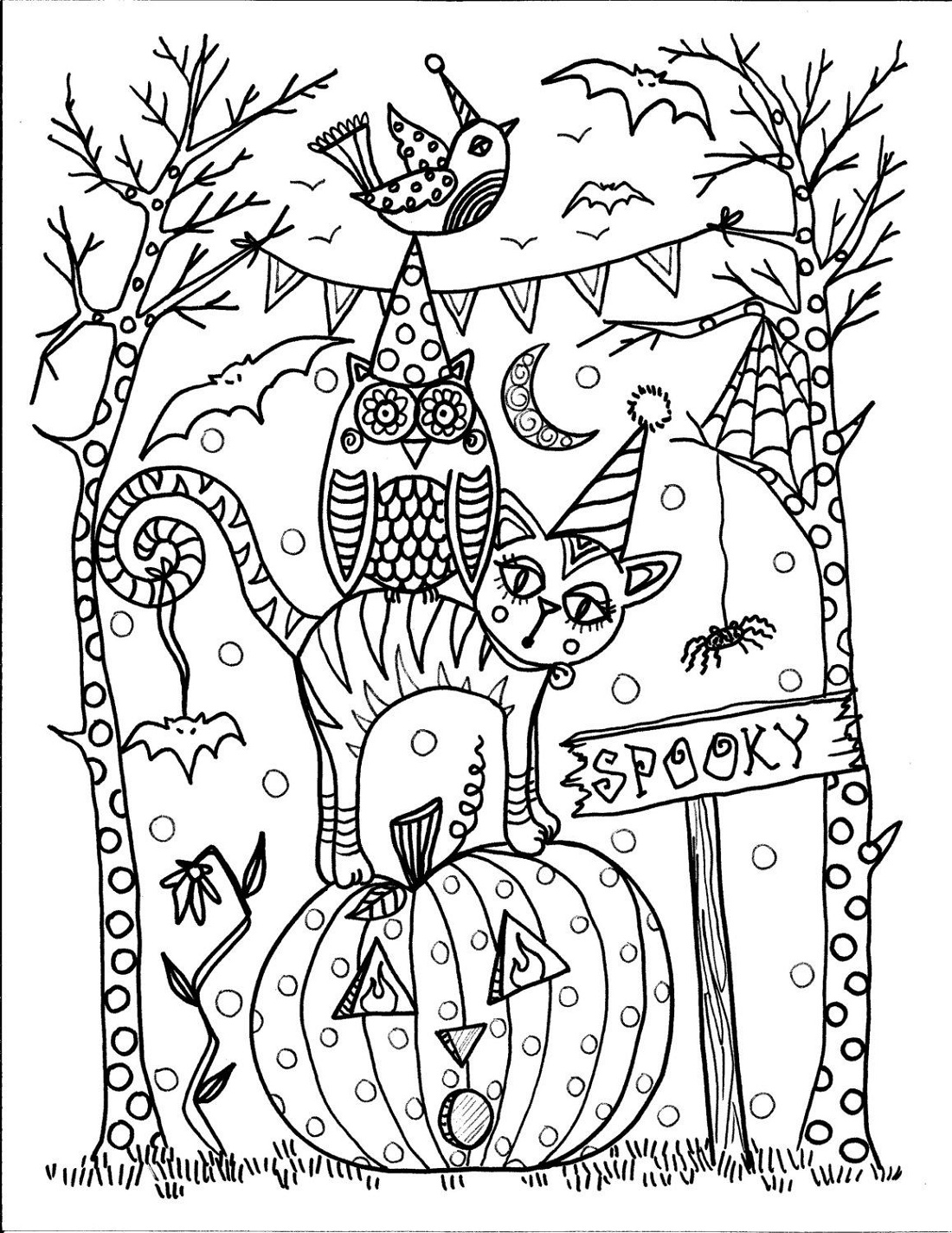 Halloween Coloring Pages For Adults Printable