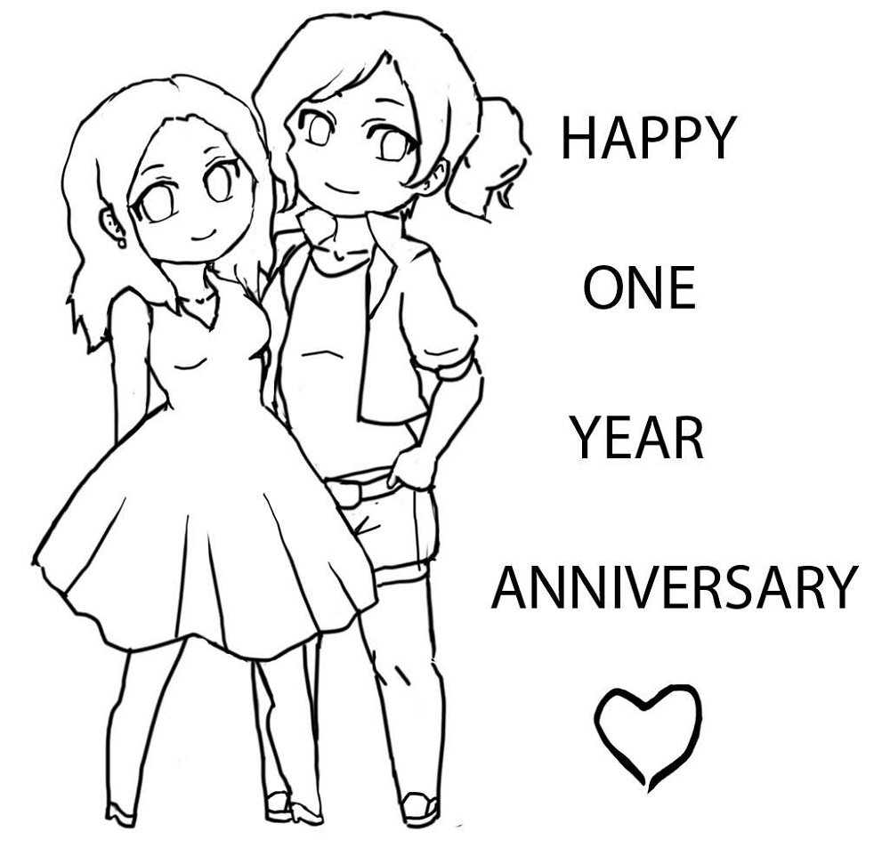 Happy Anniversary Coloring Page To Print
