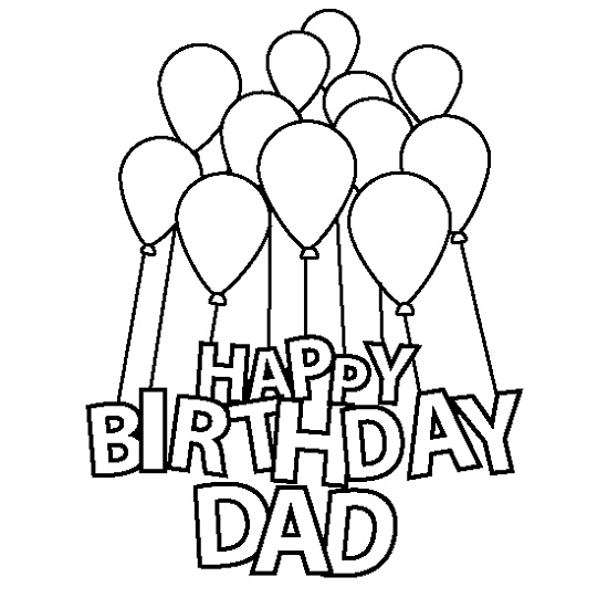 Happy Birthday Dad Coloring Pages To Print