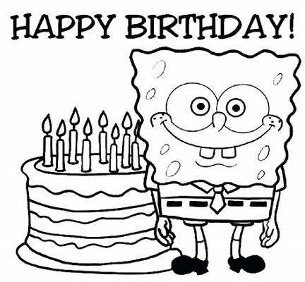 Happy Birthday Grandma Coloring Pages Songebob