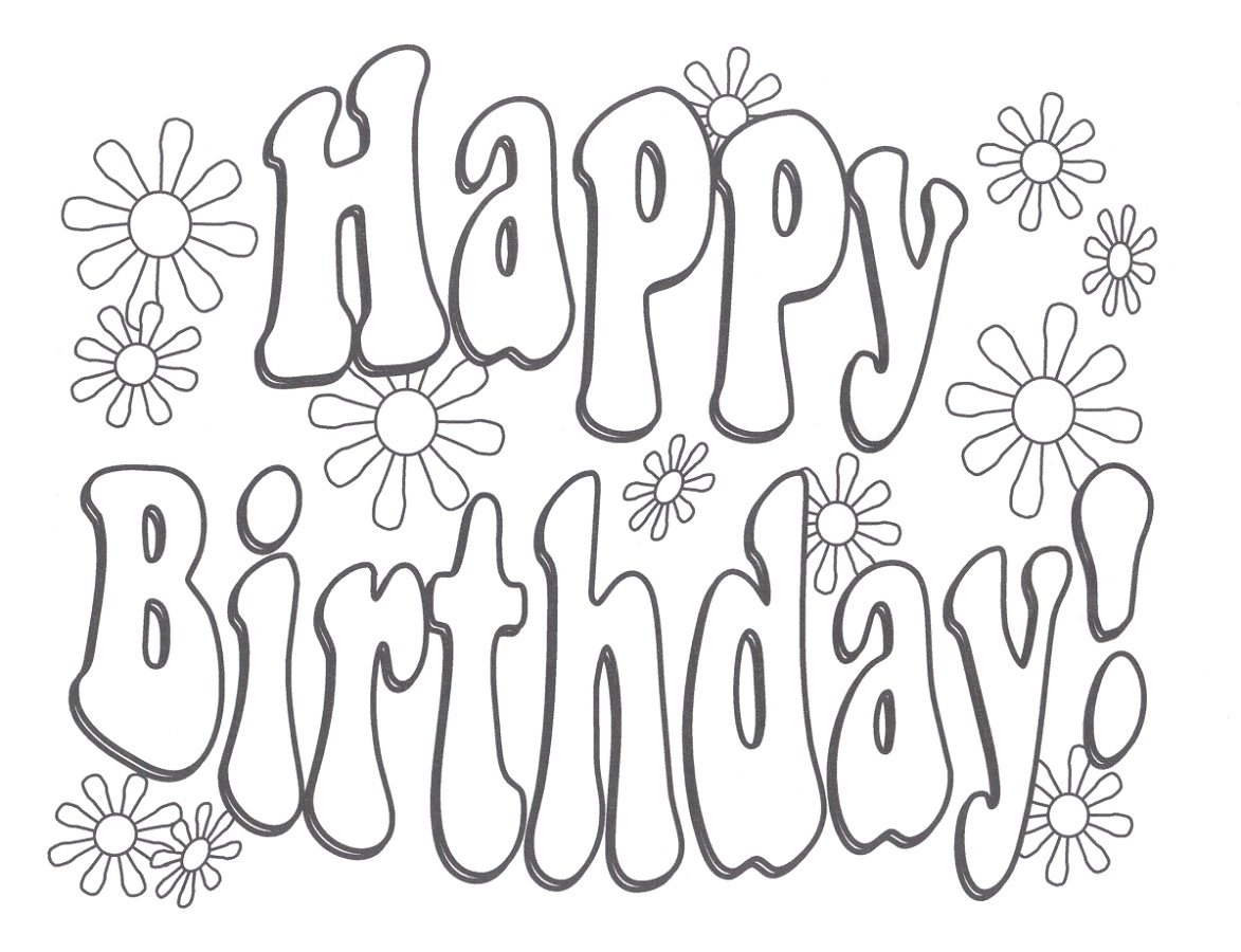 Happy Birthday Grandma Coloring Pages To Print