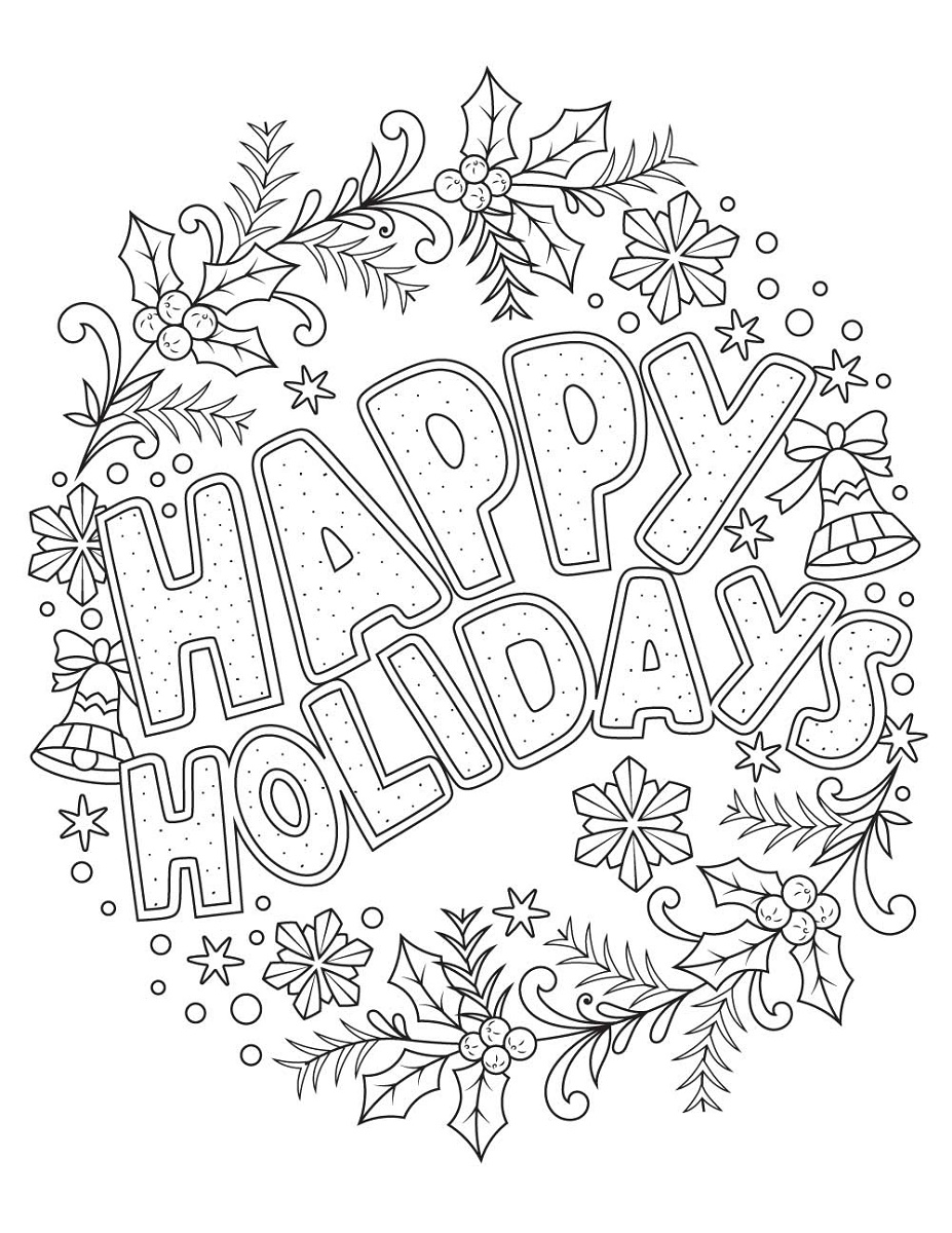 Holiday Coloring Pages Happy