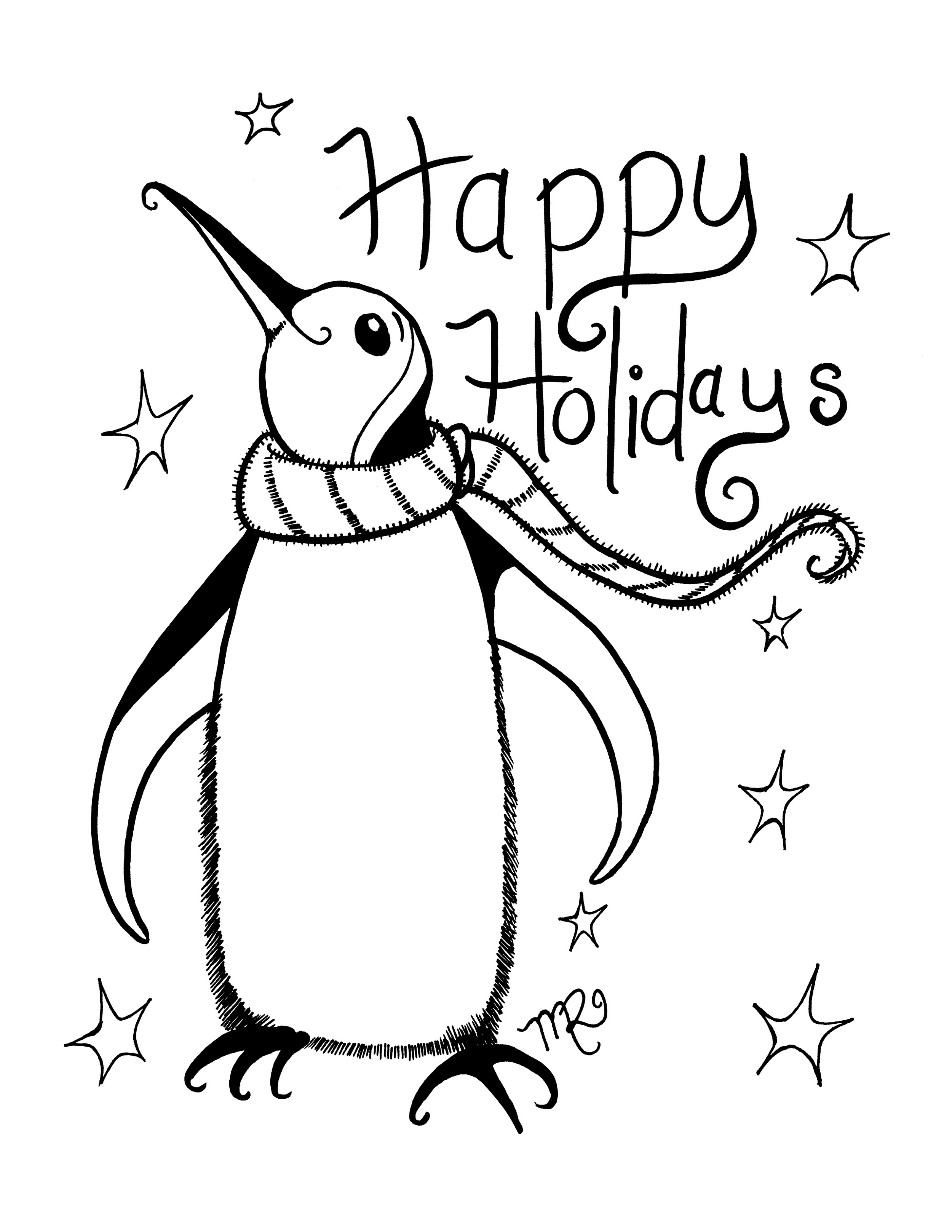 Holiday Coloring Pages To Print