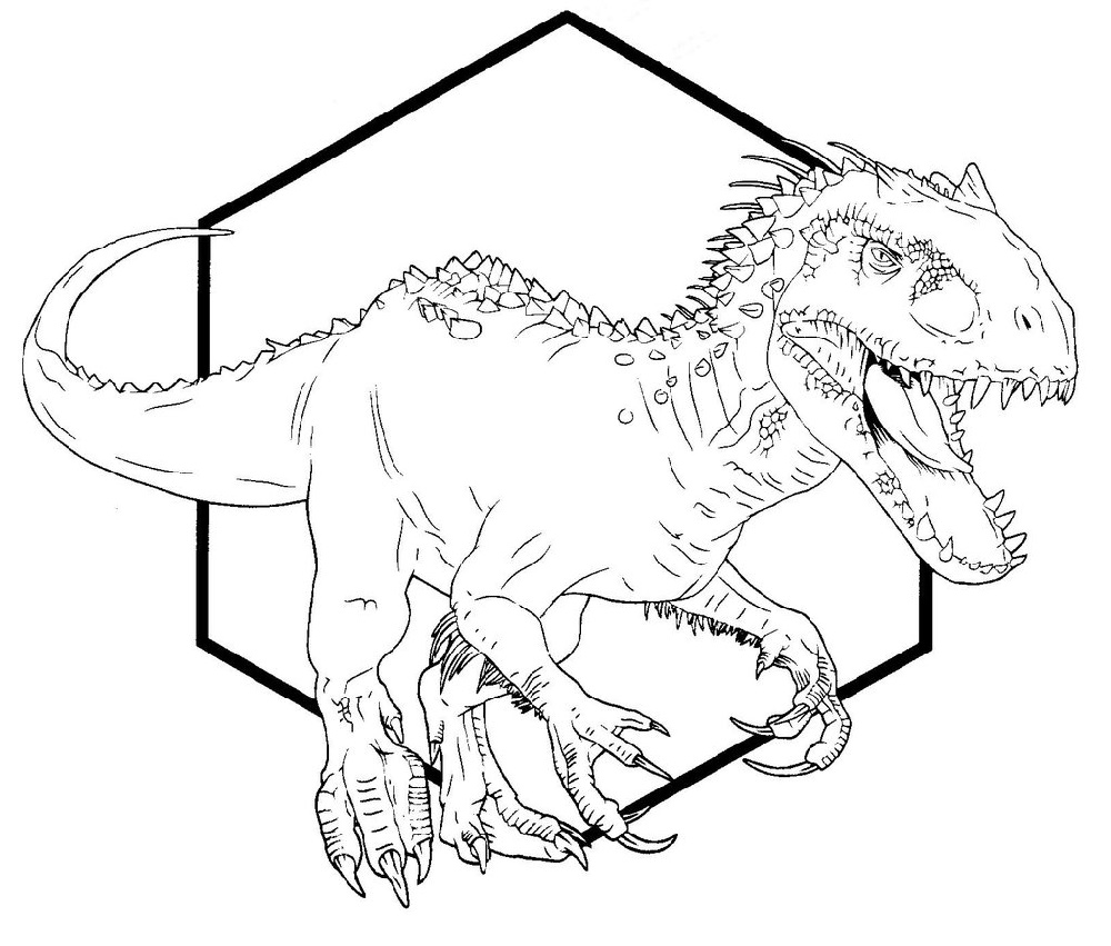 Indominus Rex Coloring Page For Adults