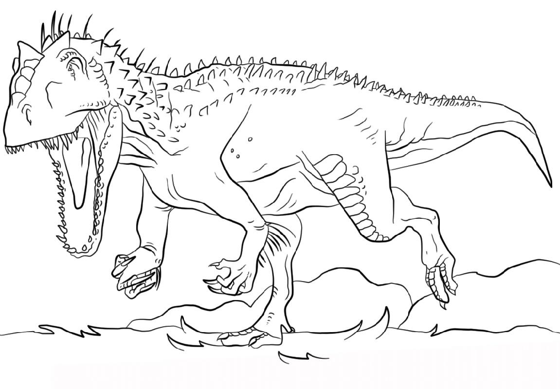 Indominus Rex Coloring Page Jurrasic Park