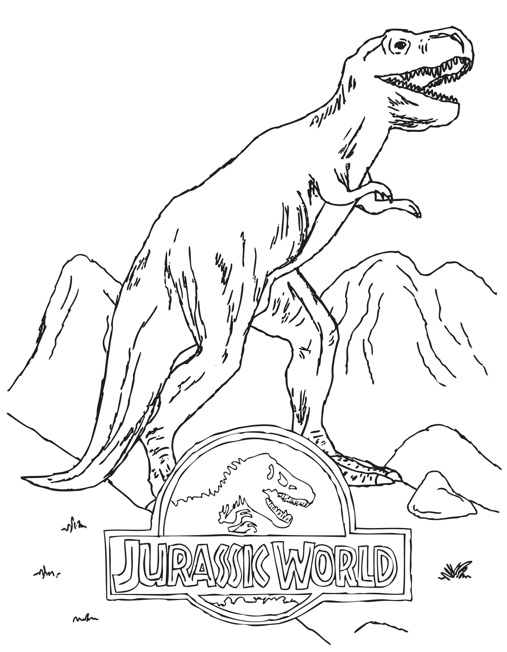 Indominus Rex Coloring Page Jurrasic World