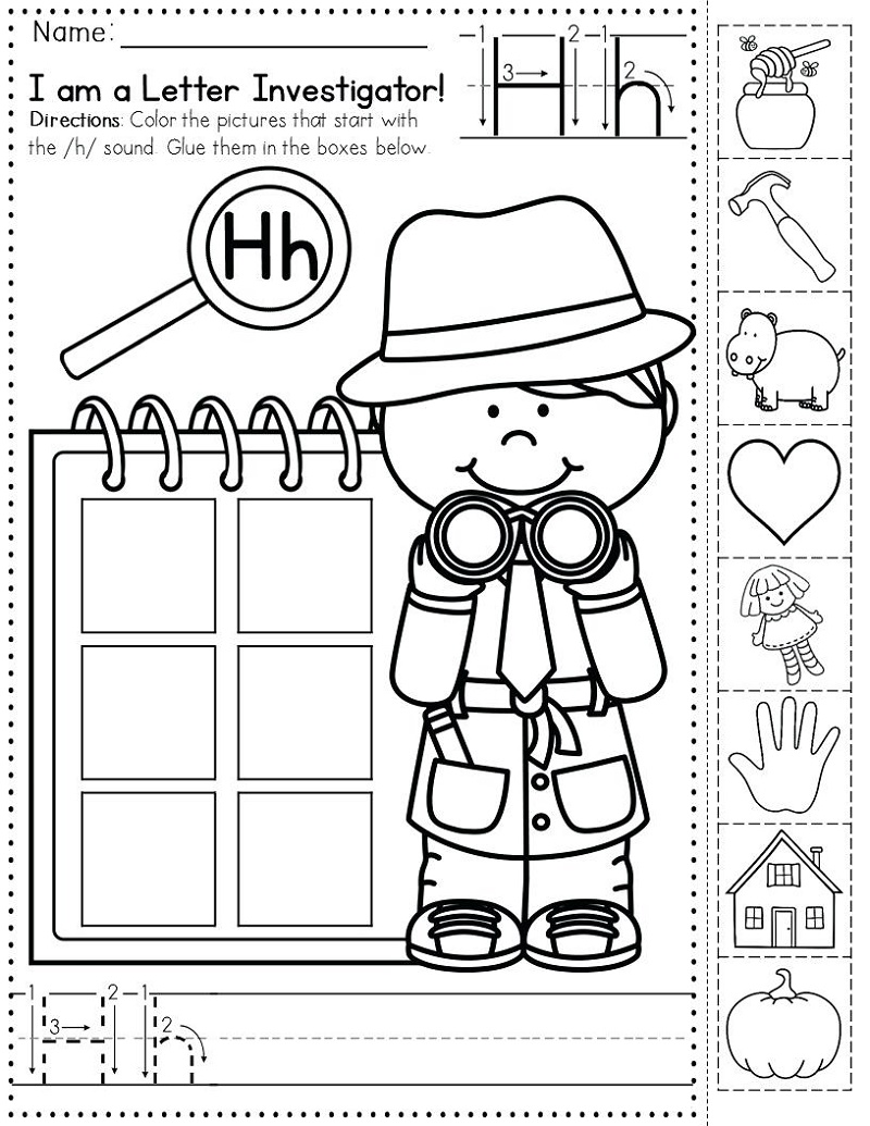 Kindergarten Learning Worksheets Beginning Sounds