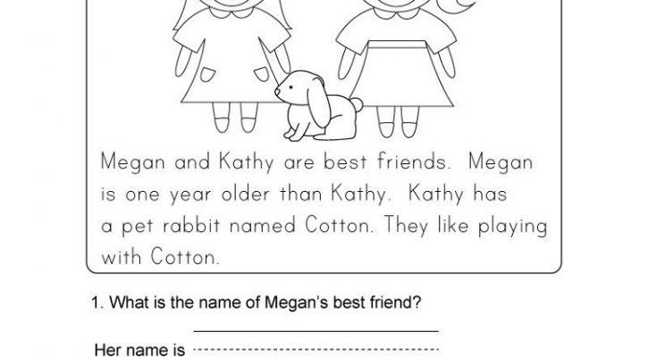 Kindergarten Learning Worksheets Reading Comprehension