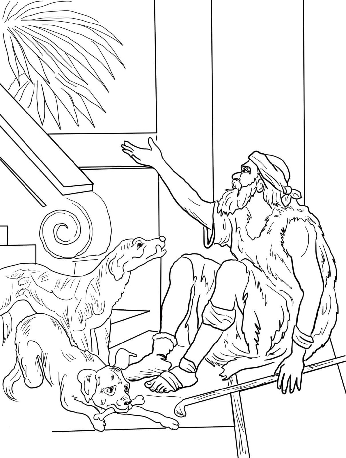 Lazarus Coloring Page And The Rich Man