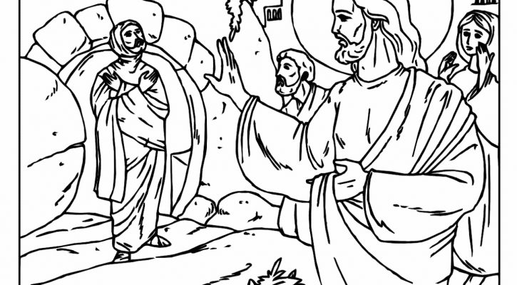 Lazarus Coloring Page Bible