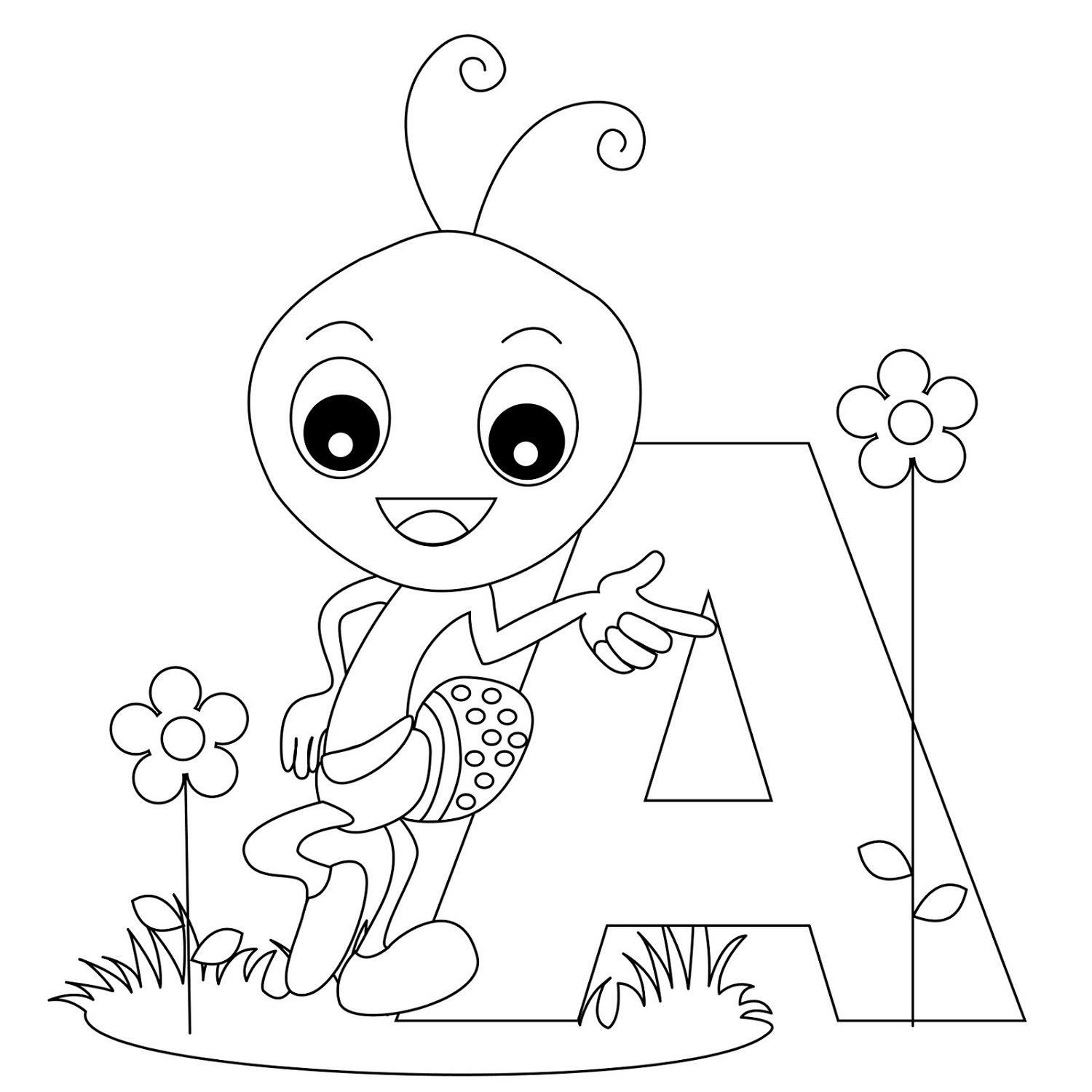 Letter A Coloring Pages Animal
