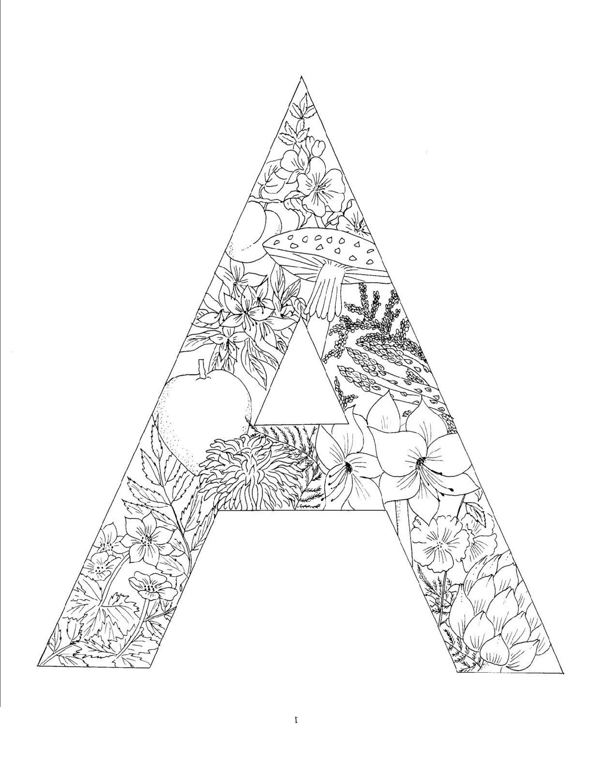 Letter A Coloring Pages For Adults