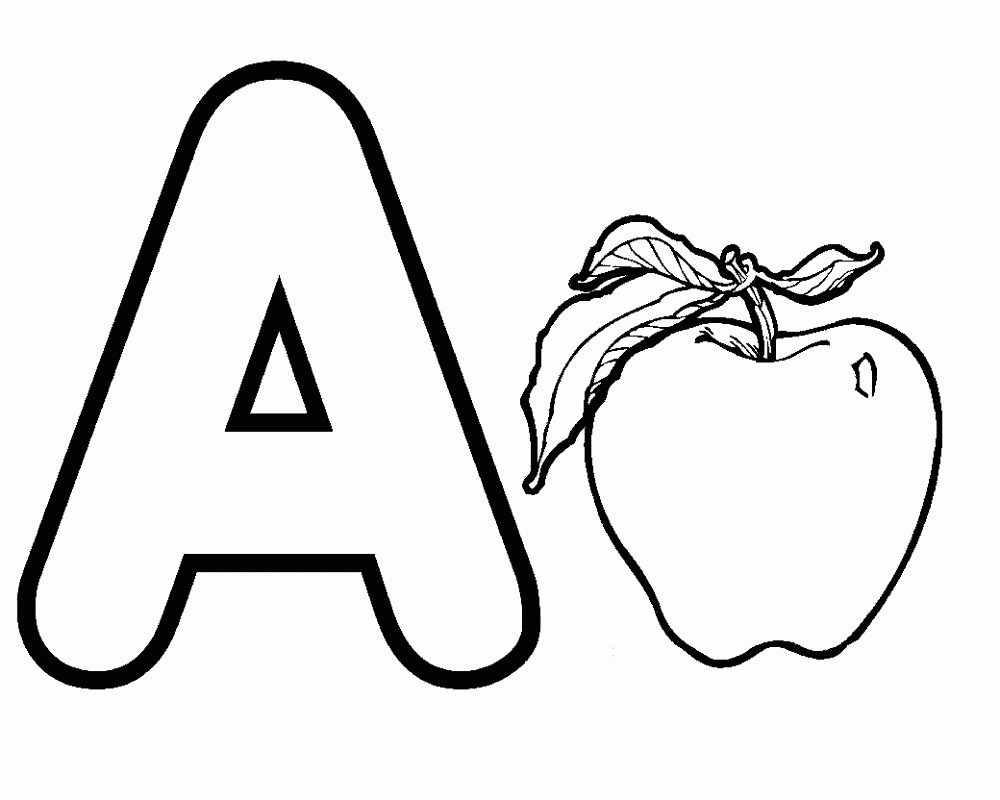 Letter A Coloring Pages Free
