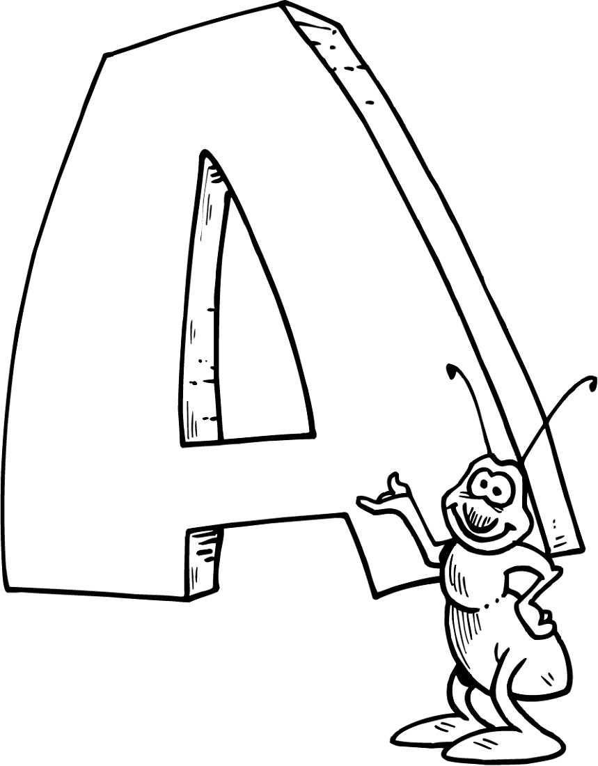 Letter A Coloring Pages Preschool