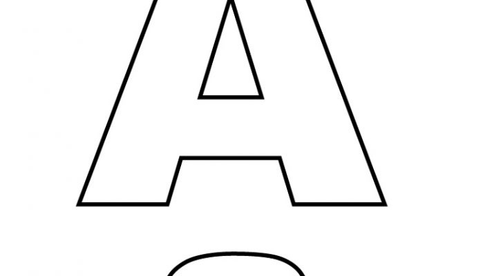 Letter A Coloring Pages Printable