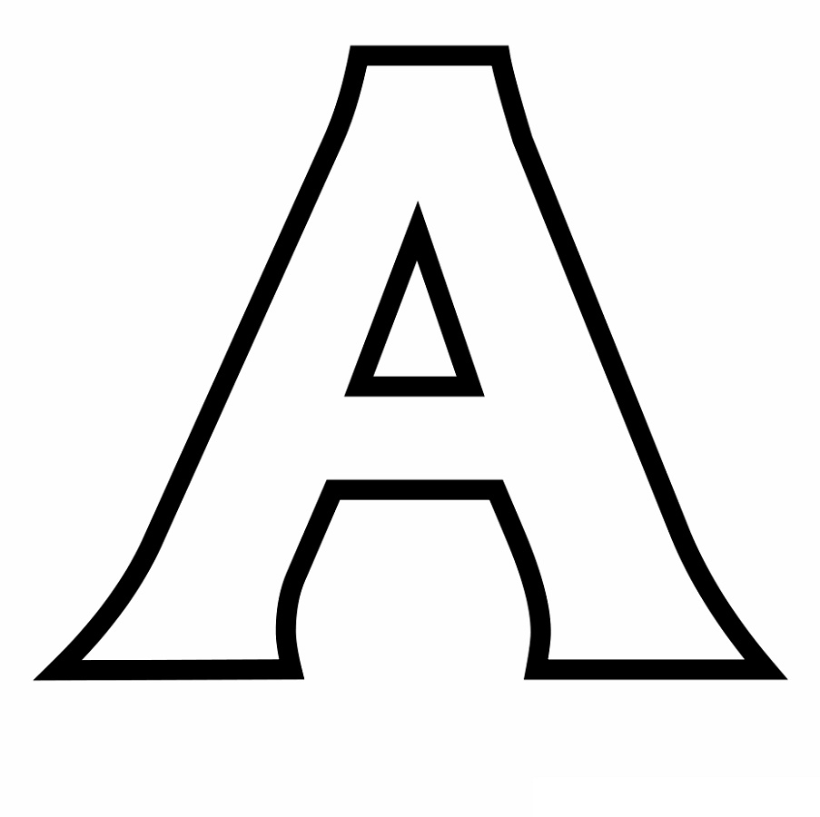 Letter A Coloring Pages Standart