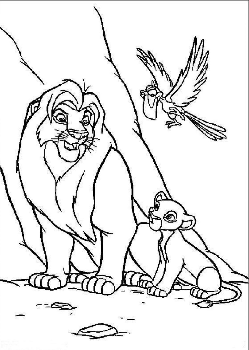 Lion King Coloring Pages Free