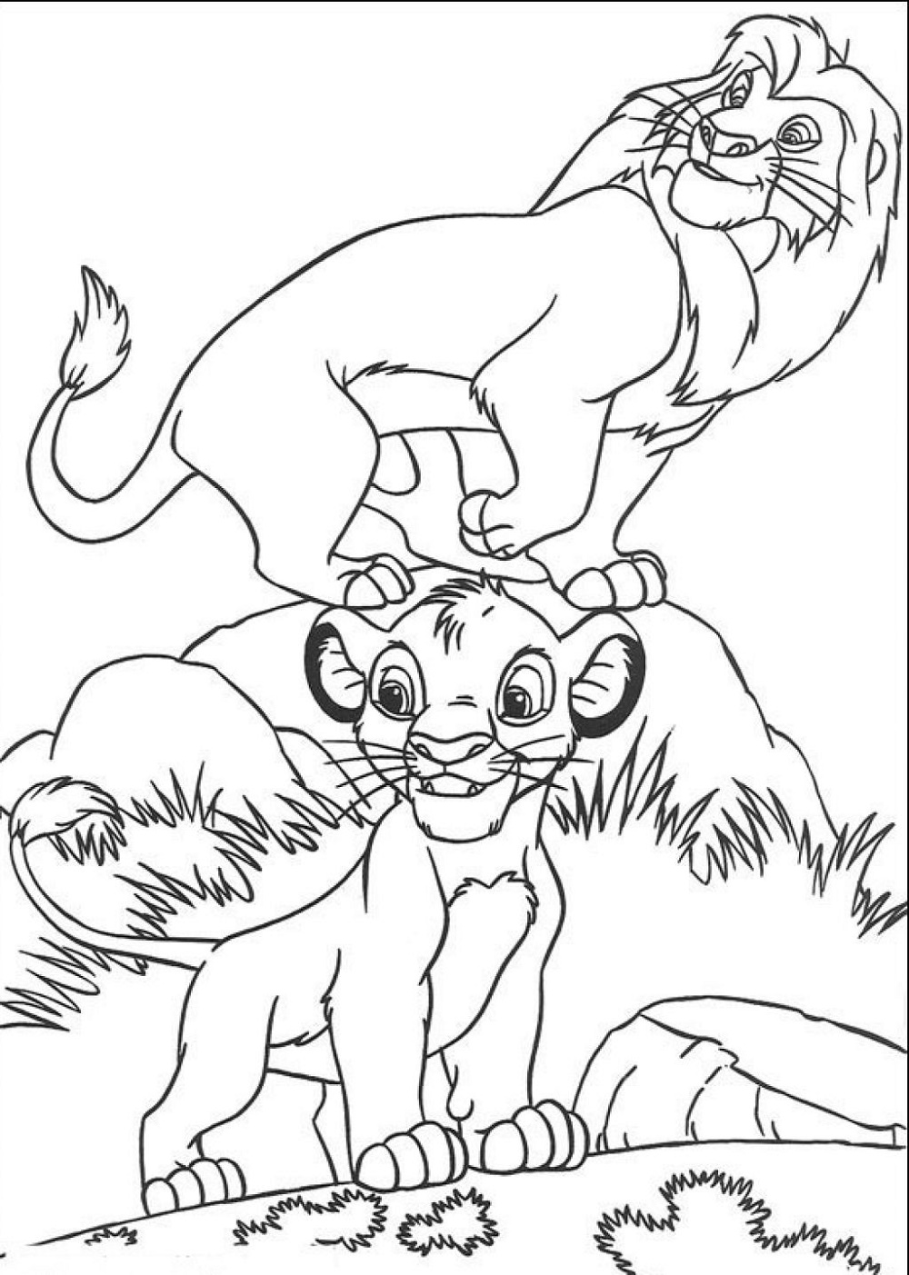 Lion King Coloring Pages To Print