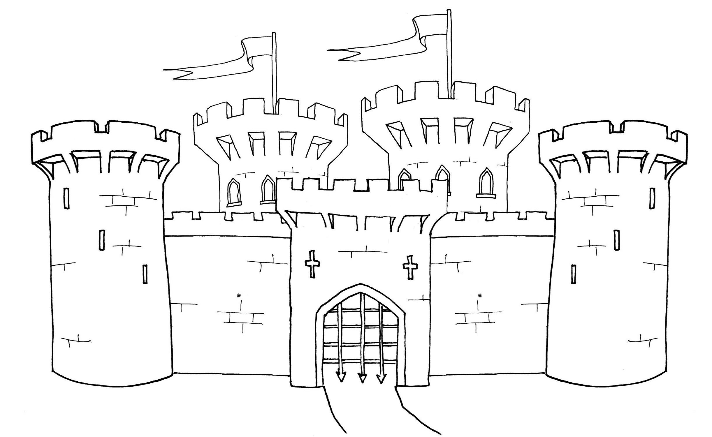 Medieval Castle Coloring Pages