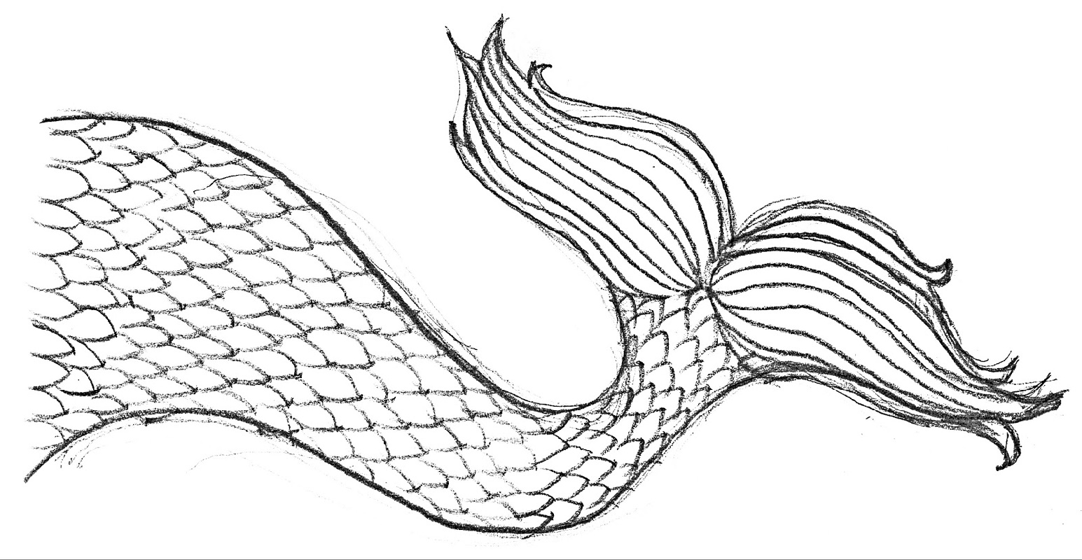 Mermaid Tail Coloring Page Free