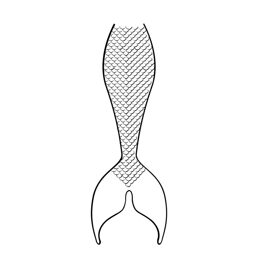 Mermaid Tail Coloring Page To Print
