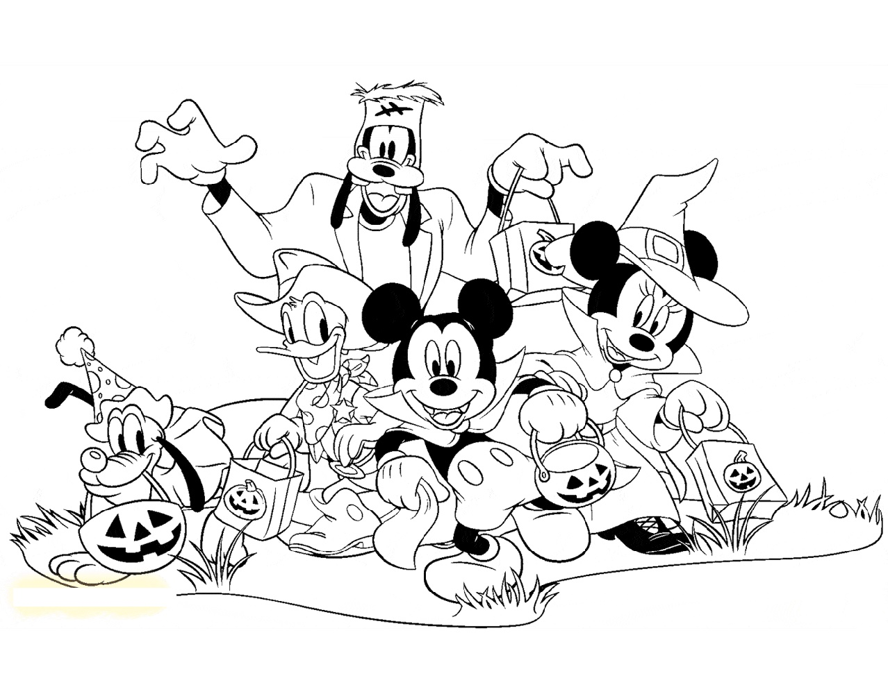 Mickey Mouse Halloween Coloring Pages Disney