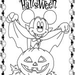 Mickey Mouse Halloween Coloring Pages Vampire