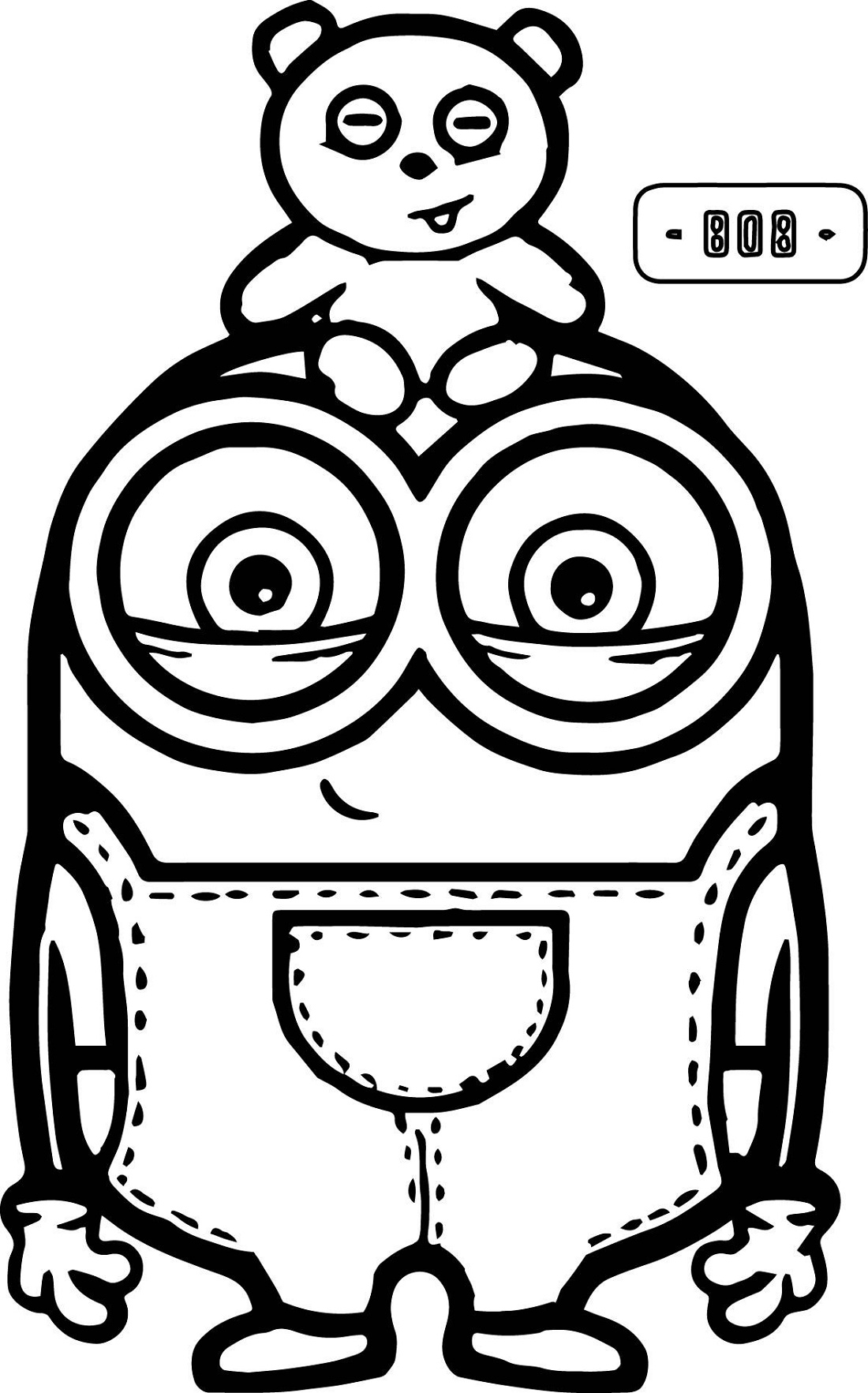 Minion Coloring Pages Bob And Bear