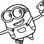 Minion Coloring Pages Bob Free