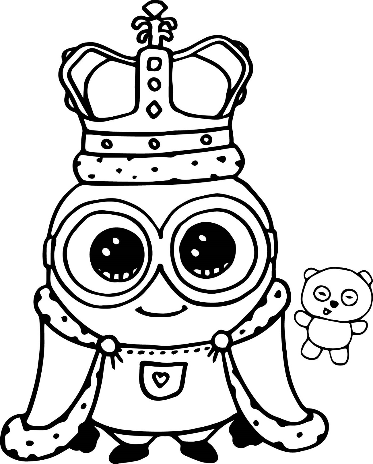 Minion Coloring Pages Bob King
