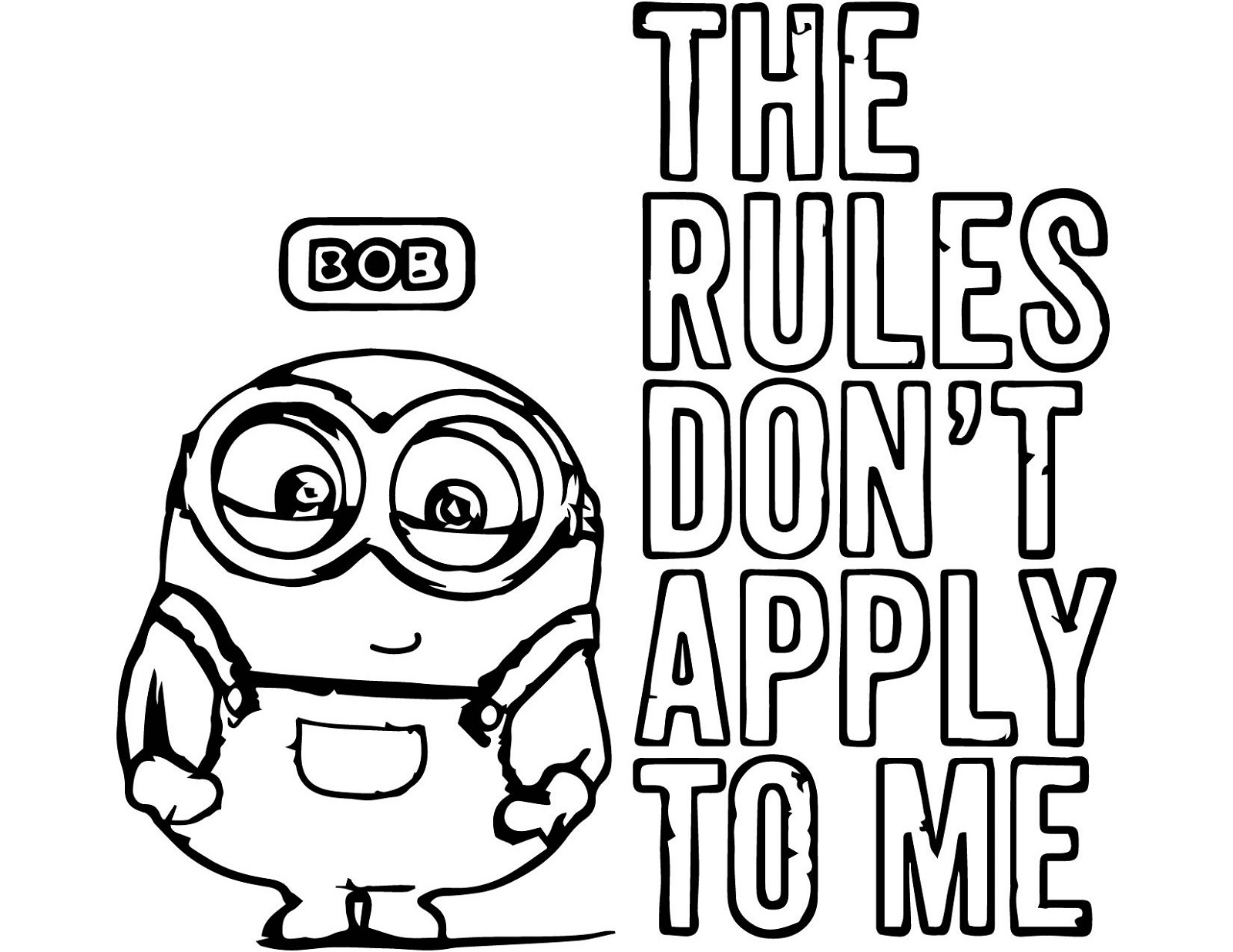 Minion Coloring Pages Bob Quotes