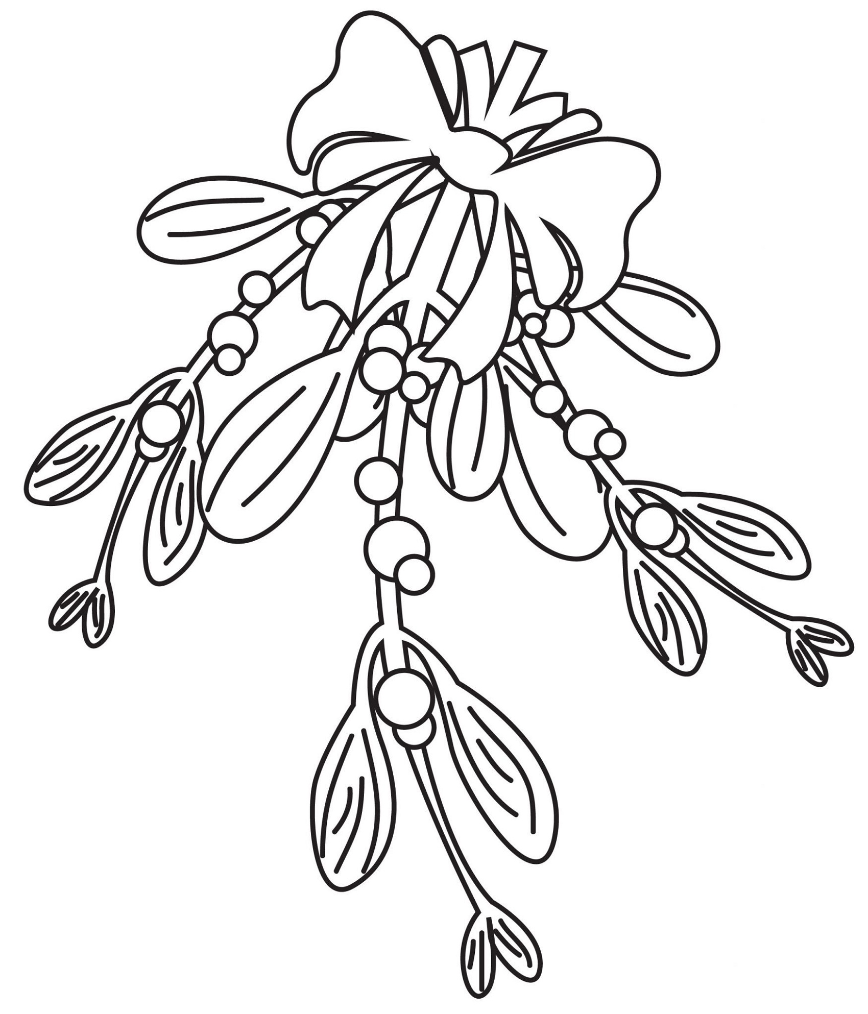 Mistletoe Coloring Pages For Kids