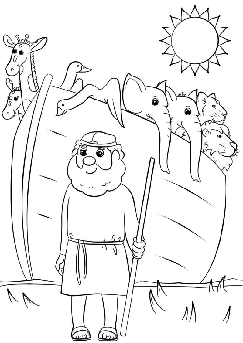 Noah\'s Ark Coloring Page | K5 Worksheets